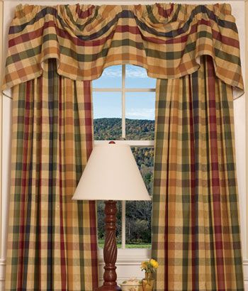 top 25 ideas about plaid country curtains on pinterest bay window treatments rod pocket. Black Bedroom Furniture Sets. Home Design Ideas