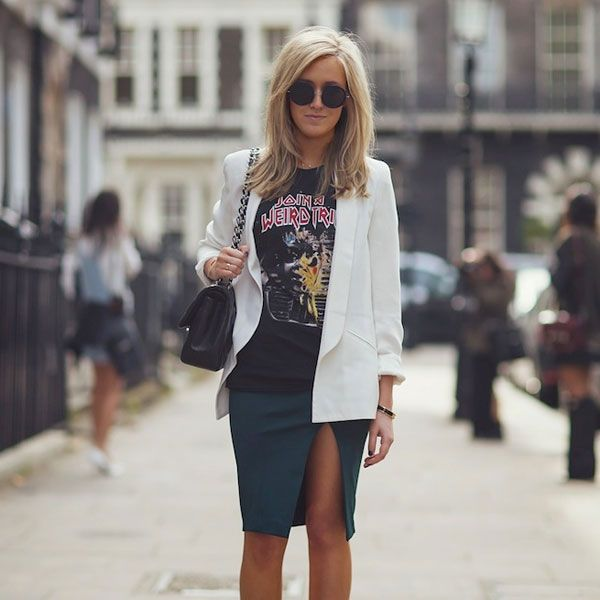 Combo de estilo: saia lápis + camiseta
