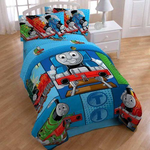Thomas Train Railroad 4pc Twin Comforter Sheets Bed Set by Thomas    Friends   69 83. 57 best Home   Kitchen   Kids  Bedding images on Pinterest   Flat