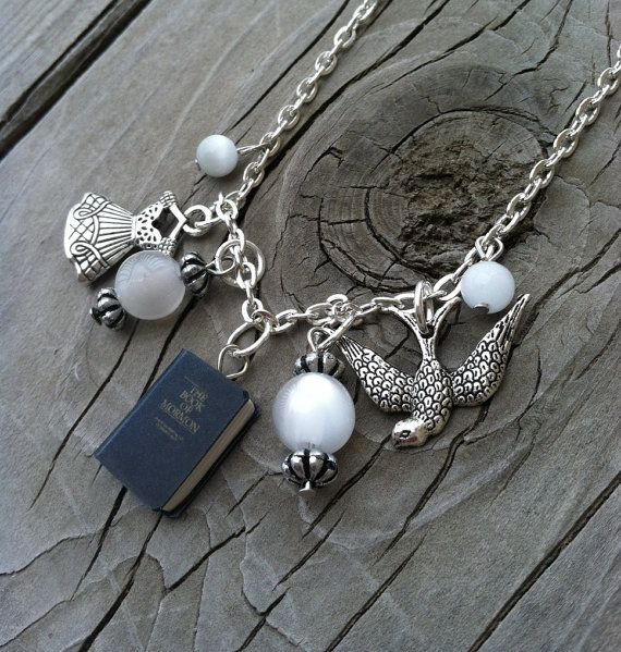 Child Size Book of Mormon Baptism Necklace on Etsy, $14.99