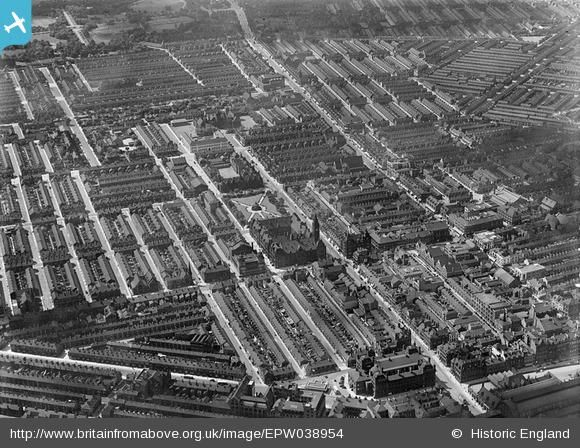The town hall, Victoria Square and environs, Middlesbrough, 1932