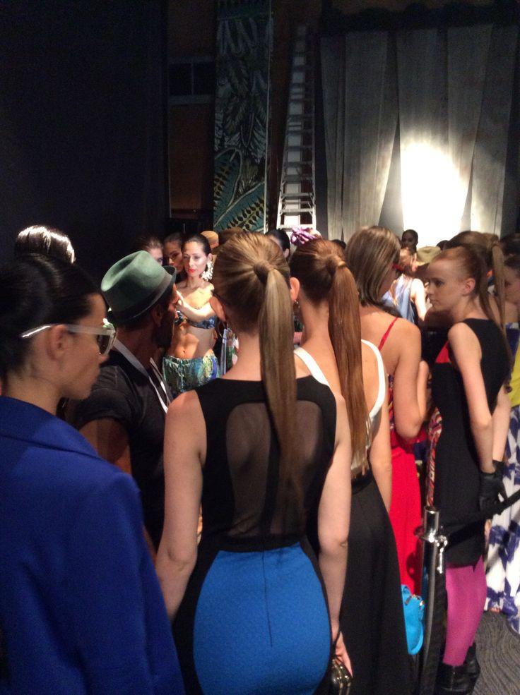 Backstage de Studio F en Colombiamoda2014