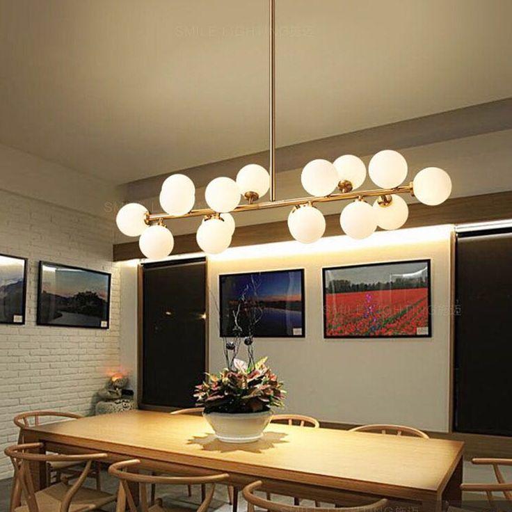 Modern LED Pendant Light White Bubble Ball Pendant Lamp Glass Pendant Light  Fixtures Gold Bar Stair