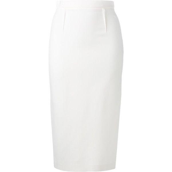 Best 25  White pencil skirts ideas only on Pinterest   White skirt ...
