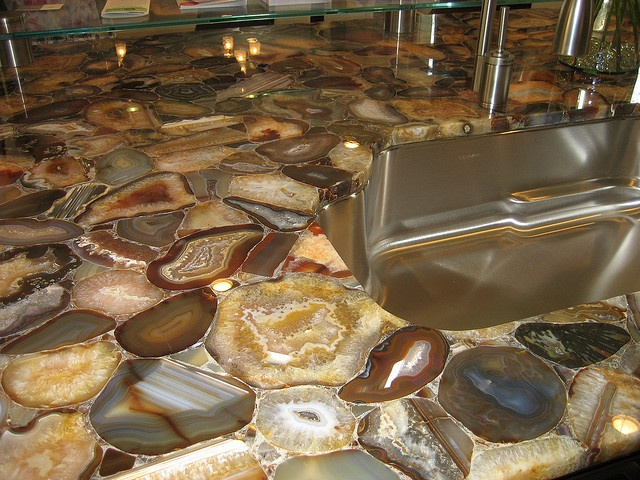 Wonderful Geode Kitchen Counters   This Is Both Too Busy (When Paired With My Slate  Floors