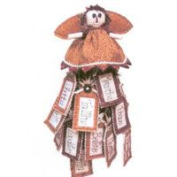 Christmas Annie Tags Cute Christmas Annie angel doll with prairie points for the top of your Christmas tree as well as some Tag decorations for the rest of the tree. Doll 20cm x 20 cm Tags 12cm x 6cm