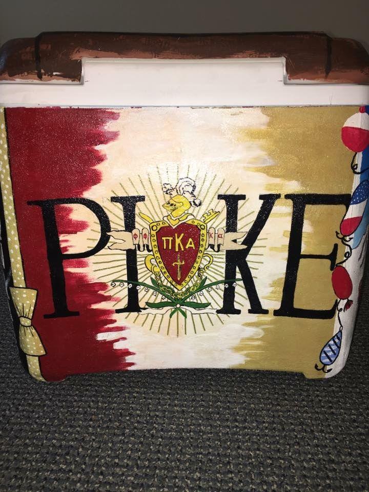 PIKE cooler fraternity crest pi kappa alpha flag