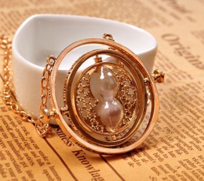 Hermine Time Converters Chain Hermione Granger Harry Potter 18K Neclace Gold Plated Pendant Cosplay Birthday Christmas Gifts
