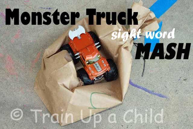 monster smash sight words: Sight Words, Idea, Monster Trucks, Play Imagine, Learning, Monsters, Word Mash, Truck Sight