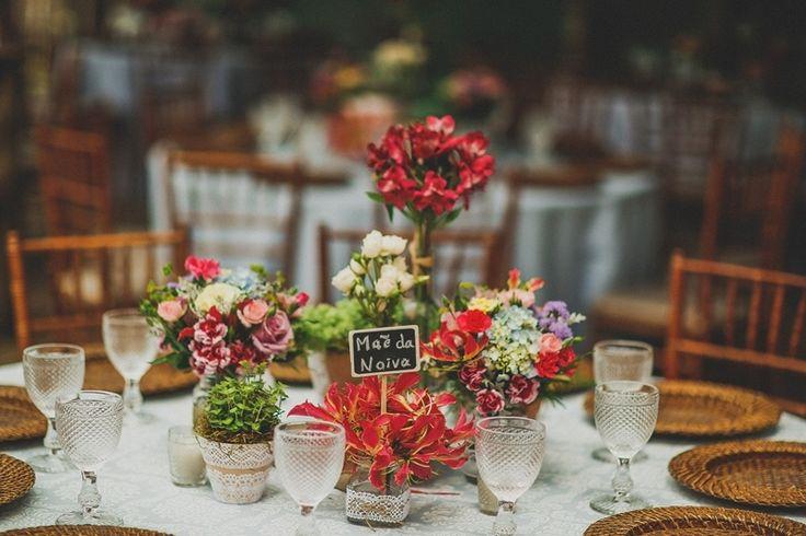 Arranjos para mesa de convidados-Casamento na praia