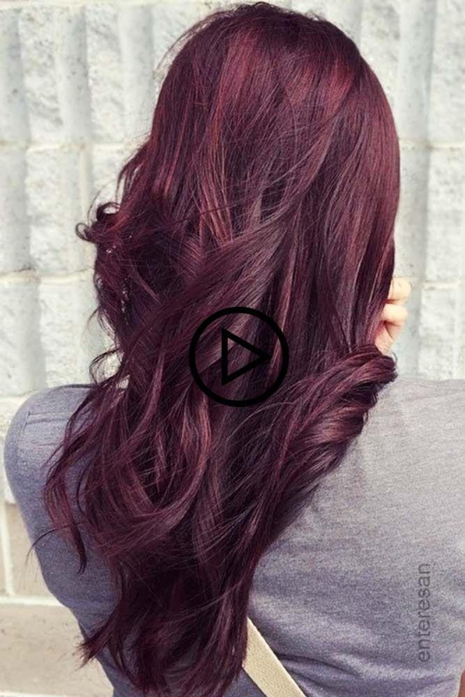 Violett Mahagoni Haar Rothaar Lilahaar Ould Mochten Sie Ein Mahagoni Farbe Anprobieren Natur Brunette Haarfarbe Haare Heller Machen Haar Styling
