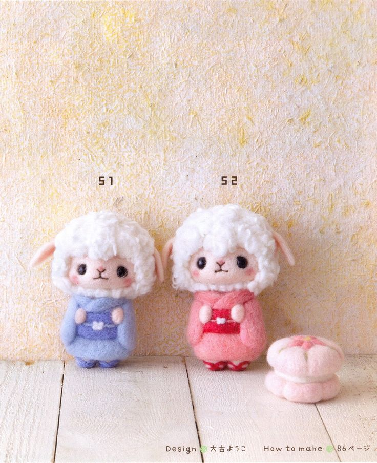 《Palm-sized Wool Felt Doll》Japanese craft book【大古 ようこ】
