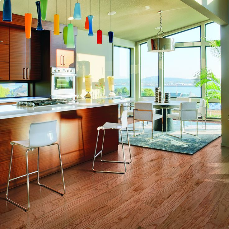 Shop Pergo Max 5.36in W Prefinished Oak Locking Hardwood