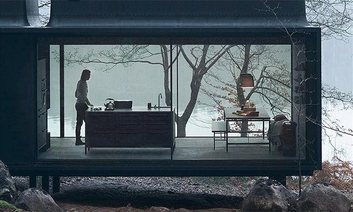 Vipp Shelter je prefabrikovaný minimalistický dům