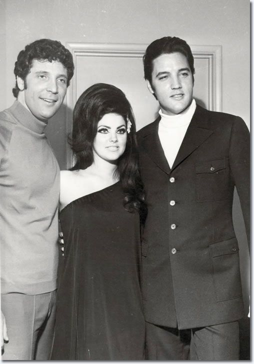 Tom Jones, Priscilla and Elvis Presley: Flamingo Hotel, Las Vegas : April 6, 1968.  We will be shopping at the newly re-decorated Flamingo! It's a classic!