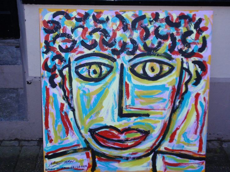 FACE IN A CROWD (SELF PORTRAIT) 2015 By Royston du Maurier-Lebek, Works being shown through Feb 2015 at Whistle Trago George Street Old Town Hastings