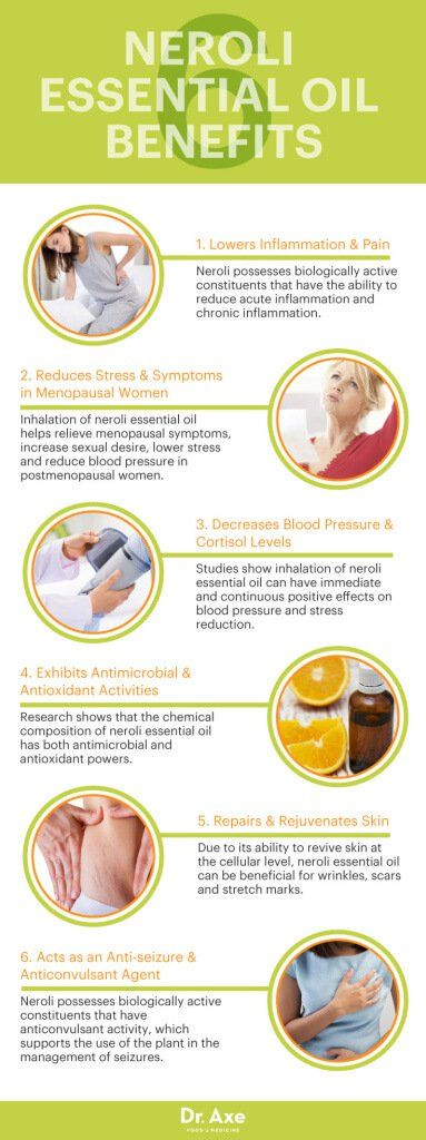 Neroli essential oil benefits - Dr. Axe