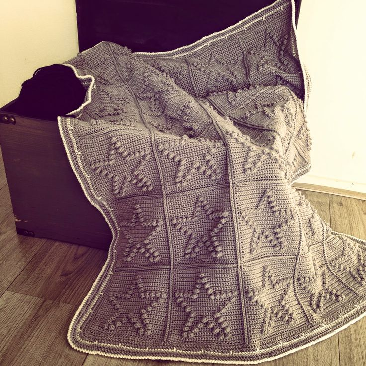 Angels handmade with love: Bobble star blanket, free pattern in Dutch