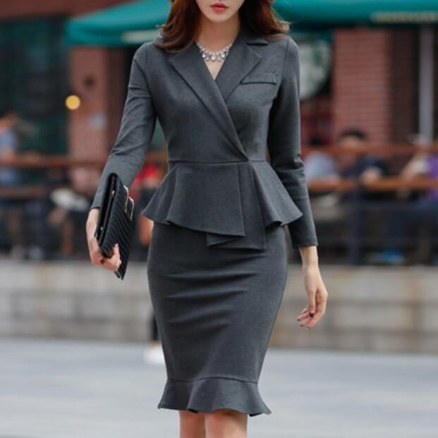 2019 Spring Autumn Women S Dress Suit Office Lady Formal Wear Elegant Blazer Formal Wear Women Womens Dress Suits Elegant Blazers