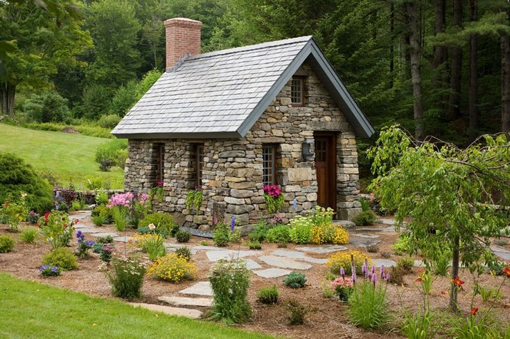 Stone Cottage Located In Alstead N H This 10x15 Foot