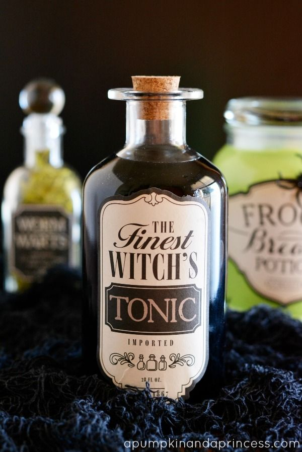 halloween apothecary jars tutorial