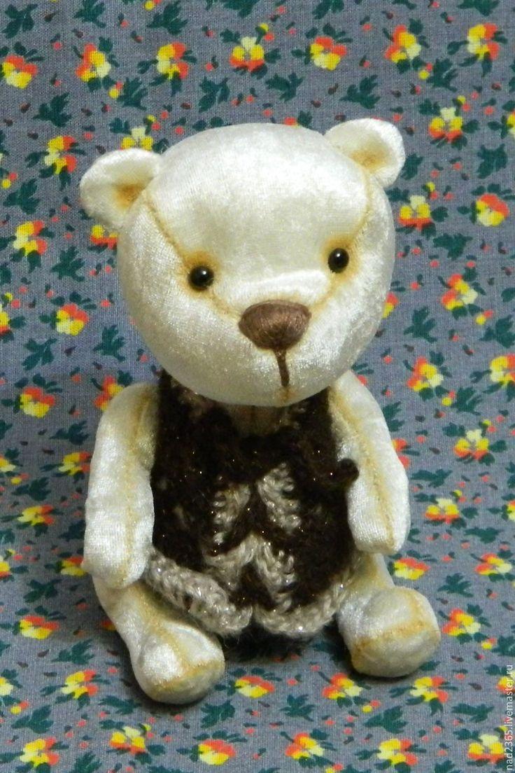 Купить Плюшевый медвежонок Мишаня - бежевый, мишка тедди, плюшевый мишка тедди, Плюшевый мишка