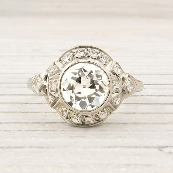 Antique 1.07 Carat Diamond Engagement Ring - Erstwhile Jewelry CoVintage Diamond, Antiques Diamonds, Erstwhile Jewelry, Vintage Rings, Diamonds Rings, 1 07 Carat, Antiques Vintage, Antiques Engagement Rings, Fine Antiques