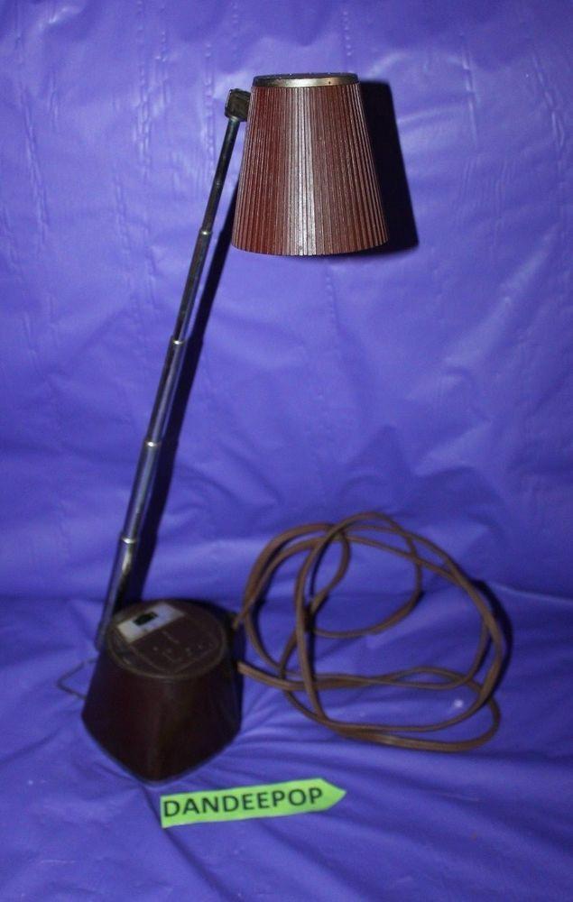 Vintage Mobilette Mobilite Inc M 77b Table Desk Light Lamp Brown Mobilette Mobilite Lamp Desklamp Light M77b Vintage Dandee Lamp Desk Light Lamp Light