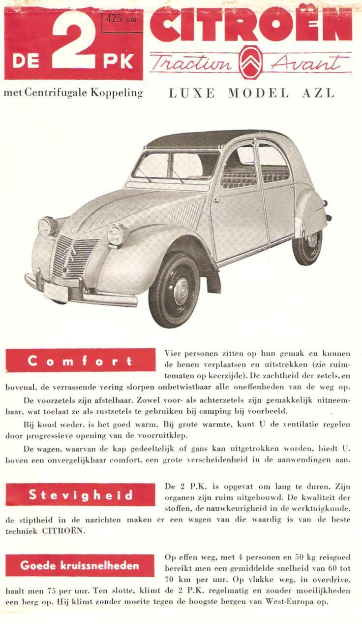 citroen 2CV AZL 1958