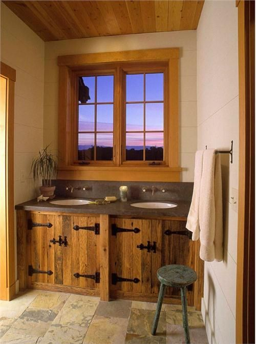 Love The Rustic Hinges On These Cabinets. Country/Rustic (Country) Bathroom  By Jessica Helgerson