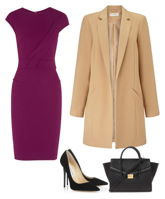 """another Anastasia Steele outfit from fifty shades of grey"" by mzkk on Polyvore featuring Roland Mouret, Jimmy Choo, Miss Selfridge, Forever 21, women's clothing, women's fashion, women, female, woman and misses"