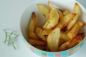 Rezept für Kartoffelecken, Kartoffelspalten, selbstgemachte Pommes, Wedges aus dem Backofen
