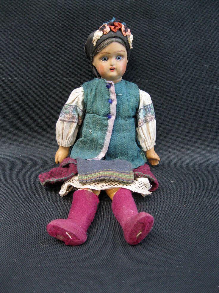 """Антична 12"""" теракотовий бісквіт голова дерев'яна шарнірне тіло російська Лялька ориг Вт. Вбрання ляльки & ведмеді, ляльки, Антикварні (до 1930), Біск, інші ляльки Антикварні бісквіт   з eBay"""
