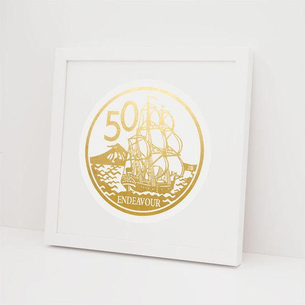 100% NZ | 50 Cent Coin - Foil Print