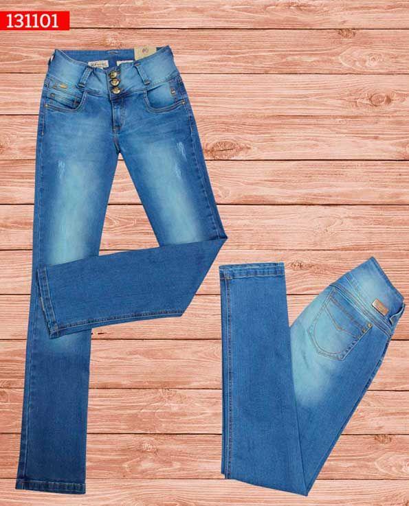 jeans-dama-color-azul -bota-recta-ref-131101-#fashion #women #ropademoda