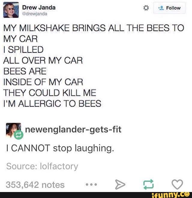 tumblr, tumblrpost, milkshake, bees, lol