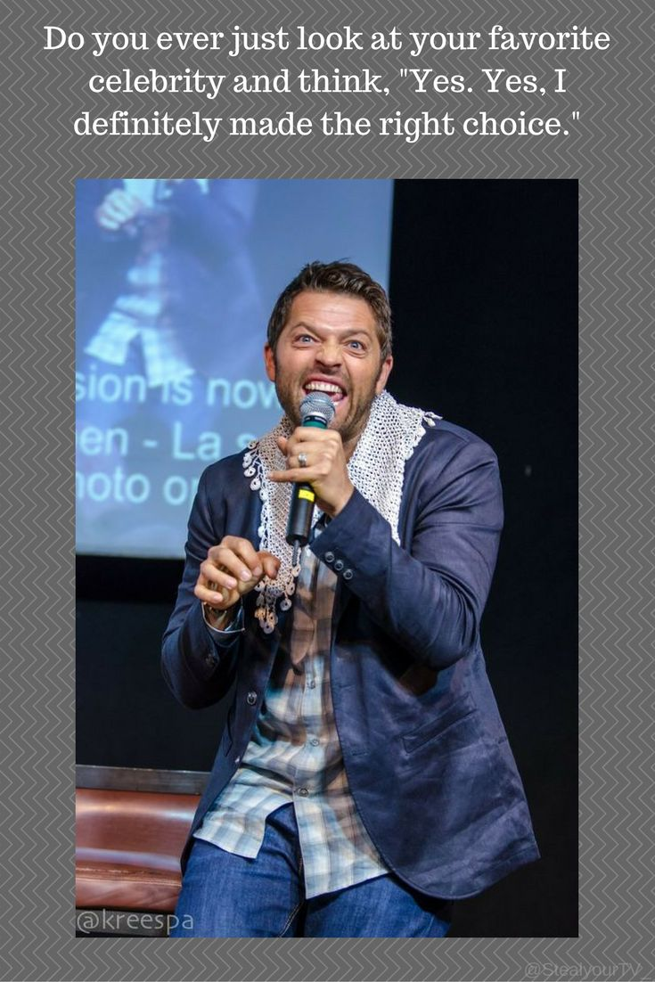 Misha Collins and his random ass faces.