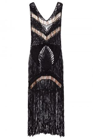 IXIAH DARK ROMANCE CROCHET DRESS
