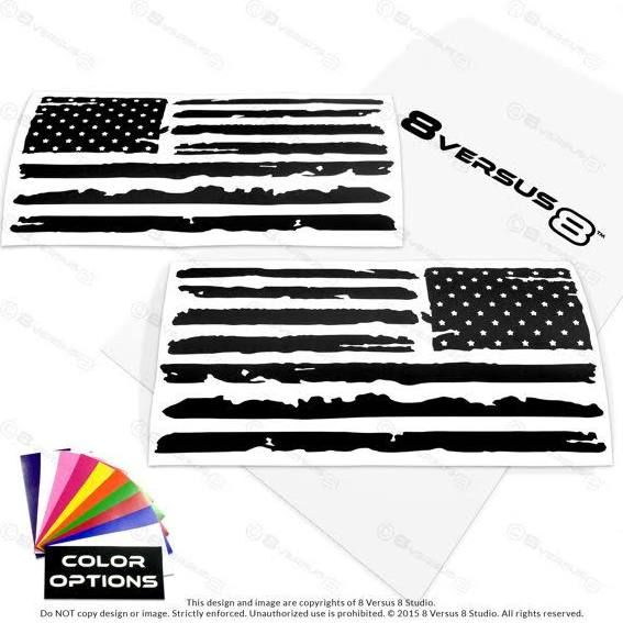 American flag truck decals