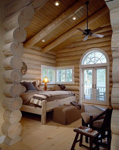 Love the massiveness of the logs and spaciousness...matches the expanse of the Big Sky country....