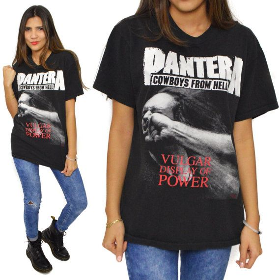 Vintage 90s Pantera Vulgar Display of Power T Shirt Sz L