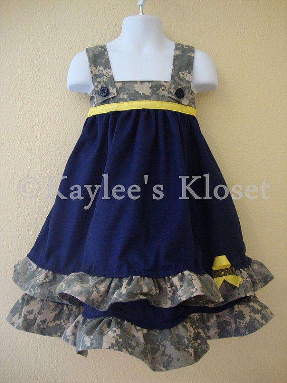 Air Force dress... omg i would love to have these and get their pics with justin in his uniform. so cute