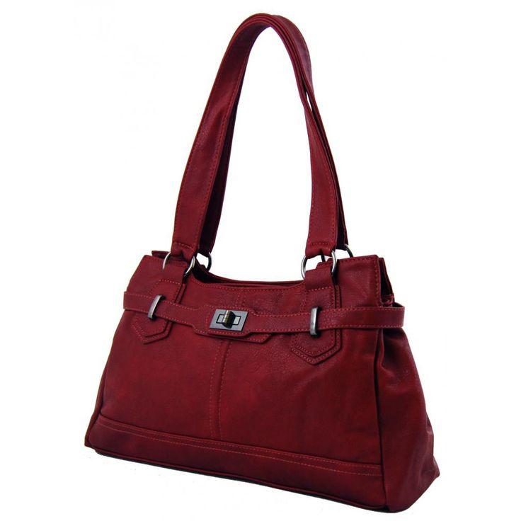 Dámská elegantní kabelka na rameno New Berry 802 vínově červená