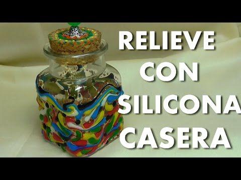 Botella de Relieve sobre cristal con mi silicona casera -High Relief on Glass Bottle with Silicone - YouTube