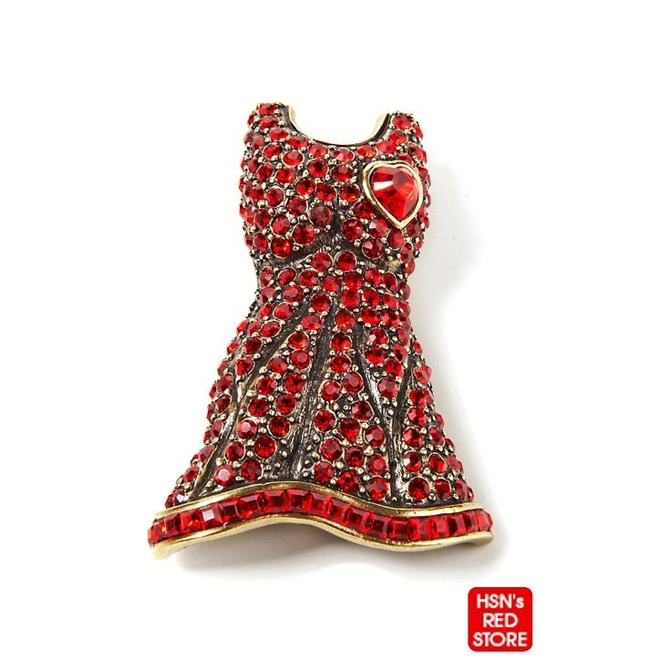 Heidi Daus Red Dress Pin Jewel Pins Pinterest