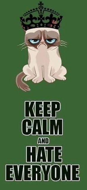 Keep calm grumpy cat