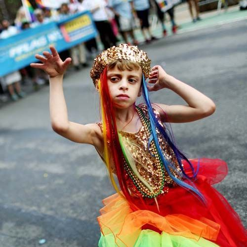 Mom defends sending 8-year-old 'gender fluid' son to gay pride event as drag queen