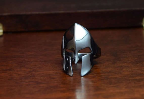 Spartan Warrior, Greek Warrior Helmet, STERLING SILVER, Black Rhodium plated, Danelian jewelry, Man statement ring, man silver ring.   ALL RING SIZES AVAILABLE. Goldsmith workshop made.