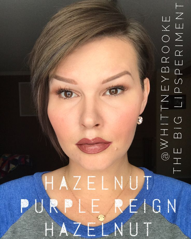 Layering lipsense!  Here's Purple Reign sandwiched between two layers of hazelnut.  Beauty tip: hazelnut is a thicker consistency and requires extra dry time!    #thebiglipsperiment #senegence #mua #makeup