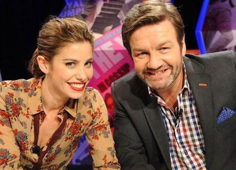 Brooke Satchwell & Lawrence Mooney on the set of 'Dirty Laundry Live'